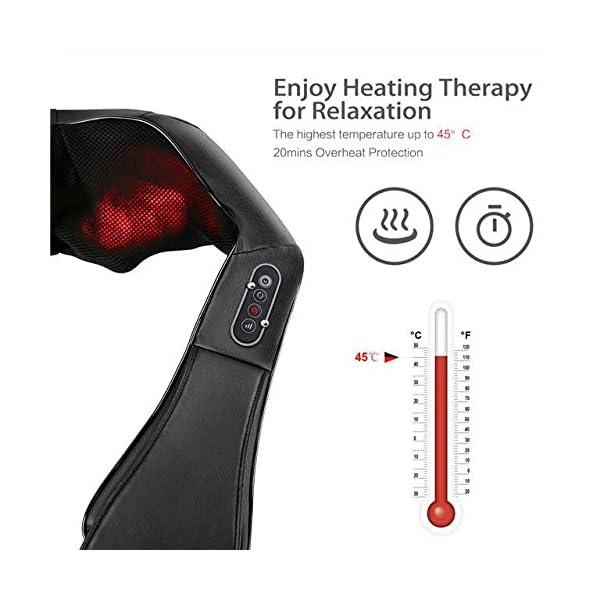 Naipo Massaggiatore per Collo e Spalle Shiatsu Elettrico Massaggi per Cervicale, Schiena con Profondo Massaggio… 3 spesavip