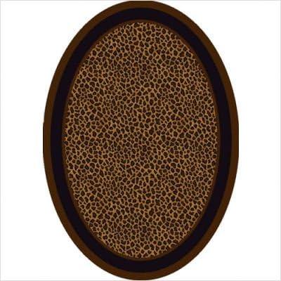 Innovation Zimbala Leopard Print Oval Rug Size Oval 5 4 x 7 8