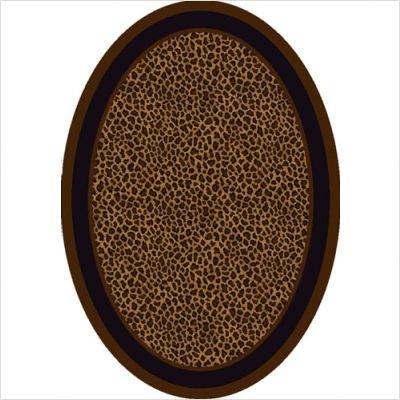 Innovation Zimbala Leopard Print Oval Rug Size: Oval 5'4