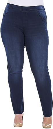 C A Ladies Plus Size Stretch Denim Look Womens Leggings Cotton Jeggings Amazon Co Uk Clothing
