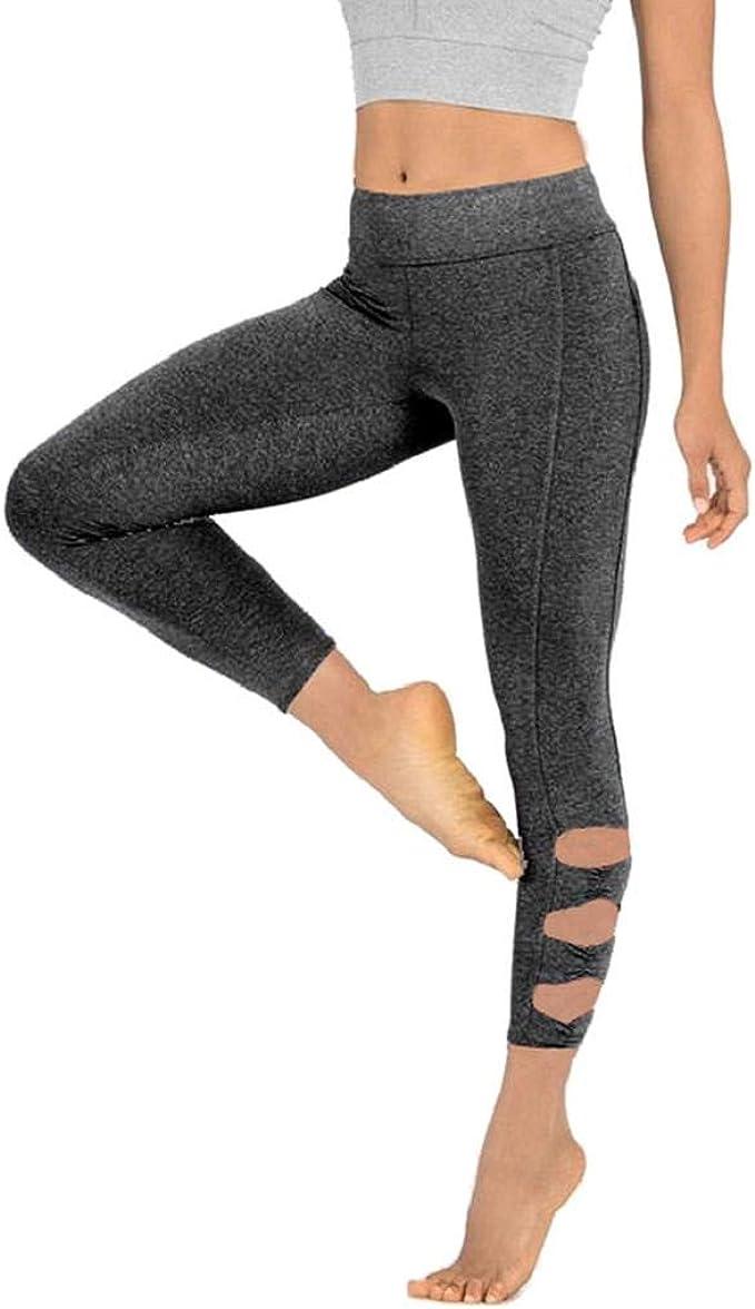 SHOBDW Pantalones Mujer Moda Ahueca hacia Fuera SóLido ...
