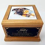 Personalized Pet Memorial urn, Dog Memorial, Custom Urn, Dog Urn, Pet Memorial Box Cat Urn, Cremation Urn, Memorial Gifts, Cat Memorial
