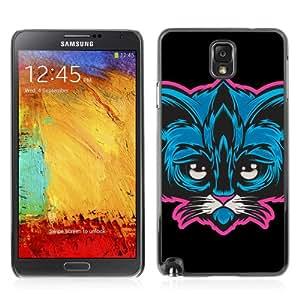 YOYOSHOP [Cute Neon Cat Illustration] Custodia Case Cover per Samsung Galaxy Note 3