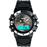 E-future SKMEI Fashion Waterproof LED LCD Boys Sports Anolog Digital Watch Black Ages 11-15