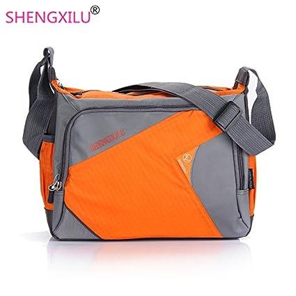5e766ad02e77 Buy Genric Red   Shengxilu business men messenger bags brand log handbags  casual male shoulder bags ipad laptop crossbody bag orange men bags Online  at Low ...