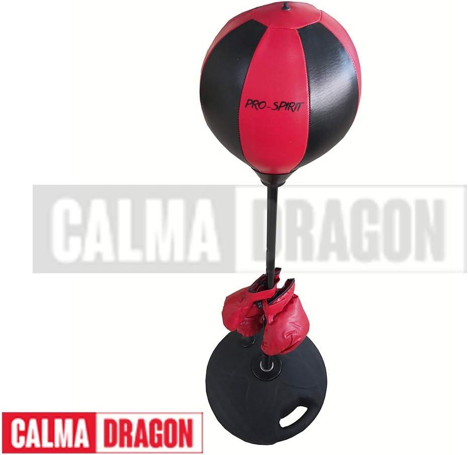 Calma Dragon Punching Ball, Saco de Boxeo de pie, Bola de Velocidad, Set de Boxeo para Niños Boxeo Pelota, Color Rojo