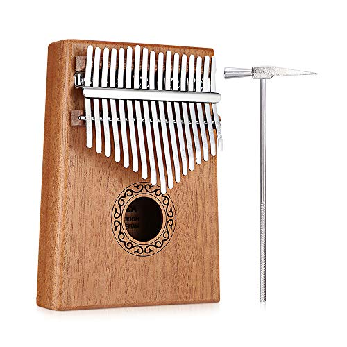 Music Chinese Instrument (Robolife 17 Keys Kalimba Thumb Piano Finger Piano Musical Toys with Tune-Hammer and Music Book, Easy-to-learn Music Instrument, Best Gift for Music Fans Adults Kids)
