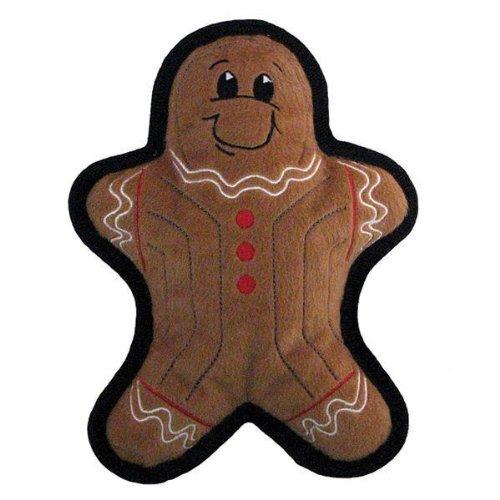 Kyjen Holiday Tuff Ones Gingerbread Man Plush Dog Toy, My Pet Supplies