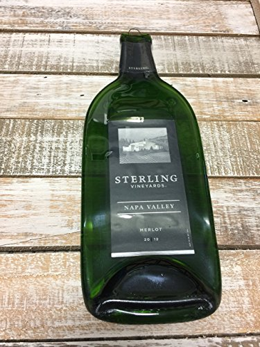 Wine Vineyards Sterling - Sterling Vineyards- Melted Wine Bottle Cheese Serving Tray - Wine Gifts