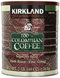 Kirkland Signature 100% Colombian Coffee Supremo Bean Dark Roast-Fine Grind, 3 Pound