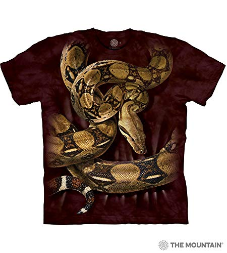The Mountain Boa Constrictor Squeeze Adult T-Shirt, Brown, 2XL