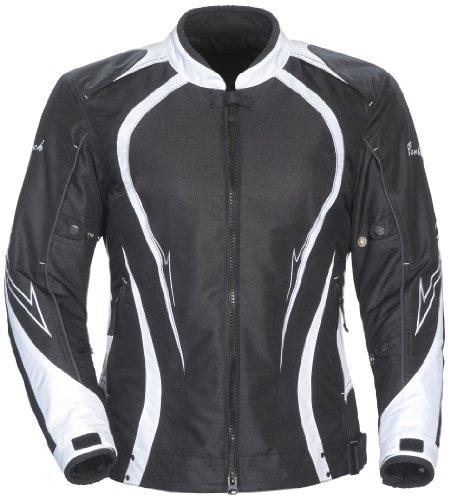 Cortech 'LRX Series 3' Womens Black/White Textile Jacket - Plus Small