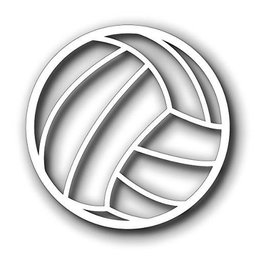 Sassy Stickers Volleyball White Decal Car Window Sticker bh191we