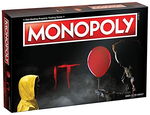 Monopoly IT Board Game | Based on The 2017 Drama/Thriller IT | Officially Licensed IT Merchandise | Themed Classic Monopoly Game (Board Game Monopoly)