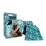 KT Tape 814179021496KT TAPE PRO Elastic Kinesiology Therapeutic Tape, 20 Precut 10 Inch Strips, Aquaduct