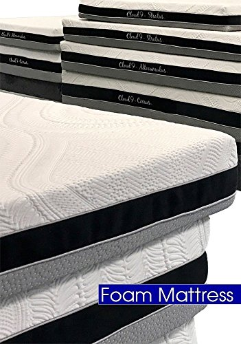 Cloud 9 Closed Cell Foam Mattress: Plush Queen 8in, True Adaptive Support, Zero Pressure Points, Sleeps Cool, Tencel Fabric, USA Made, Certi-PUR & Oeko-Tex 100 Certified, 10-Yr Wty, 100 day trial