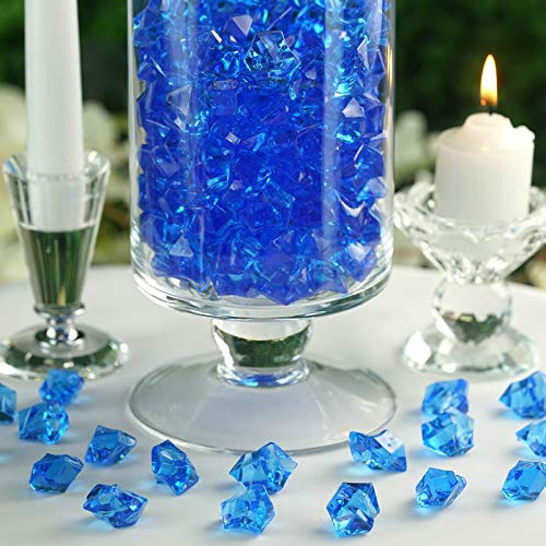 (Efavormart 300 pcs Blue Large Acrylic Ice Crystals Wedding Party Table Scatters Decorations for Banquet Events Decorations)