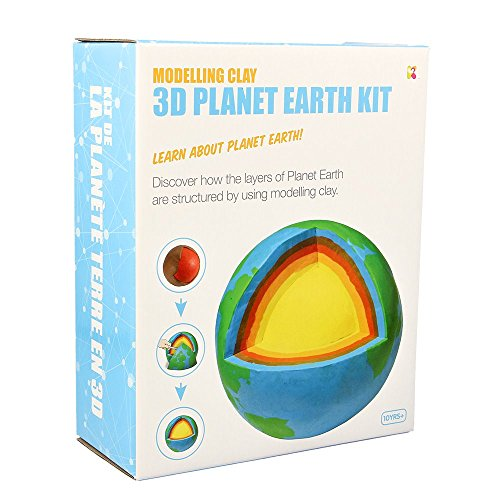 Keycraft 3D Planet Earth Kit-Modeling Clay Kit