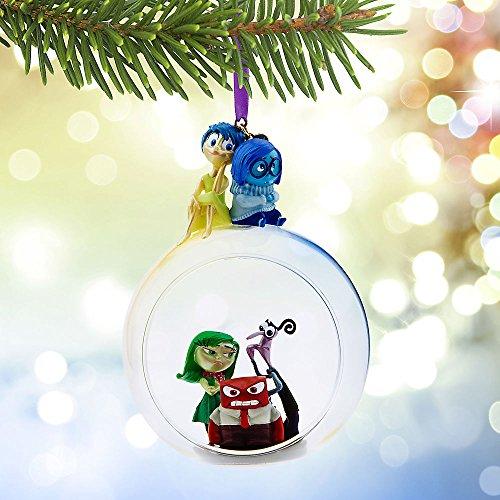 Disney Store Pixar Inside Out Glass Globe Sketchbook Ornament