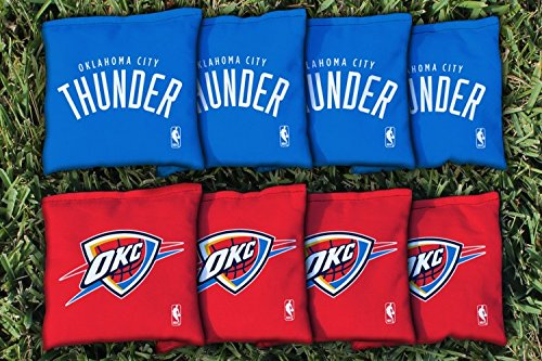NBA Replacement All Weather Cornhole Bag Set NBA Team: Oklahoma City Thunder by Victory Tailgate