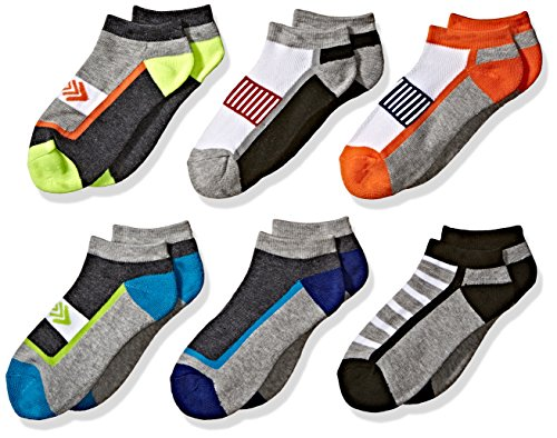 Jefferies Socks Boys Big Sporty Athletic Low Cut Half Cushion 6 Pair Pack