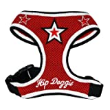 Hip Doggie Red Super Star Mesh Harness Vest, XX-Large