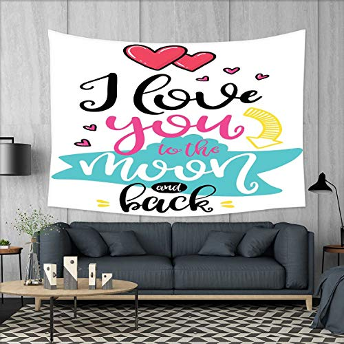 smallbeefly I Love You Tapestry Wall Hanging 3D Printing I L