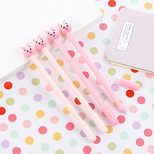GOOTRADES 8 Pack Cute Pig Writing Gel Ink Pen for Office School Student ,0.38 mm Tip Photo #7