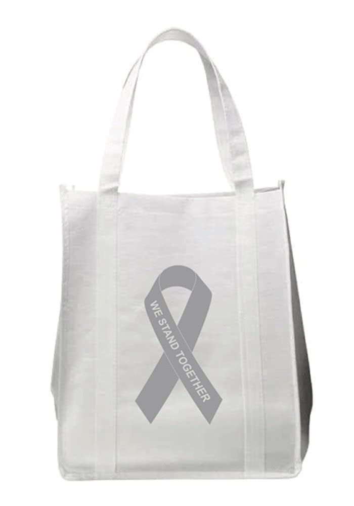 【在庫僅少】 グレーリボンAwareness Reusable Grocery Grocery Reusable Bag B076HFJL88 B076HFJL88, 株式会社空調服 直営店:7f4743d5 --- 4x4.lt