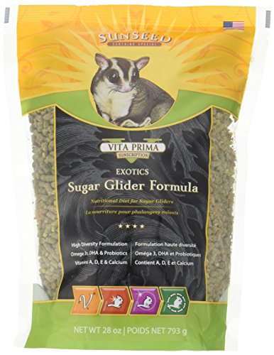 Sunseed 20060 Vita Prima Sunscription Exotics Sugar Glider Food - High-Variety Formula - 28 OZ.