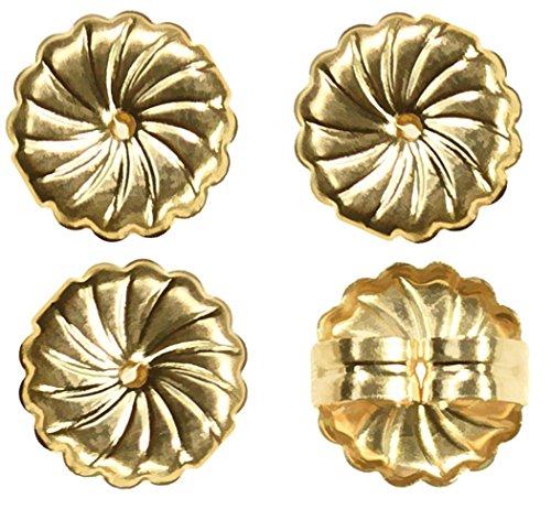 14k Back Post (14K Gold Filled Jumbo Earring Backs Premium Swirl 9mm (2 Pairs))