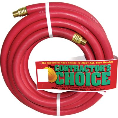 Industrial Red Rubber Hose - 3/4in. x 25ft., 1/2in. NPT Fittings, 200 PSI, Model# RR3/4X25-200-8MP