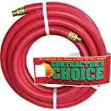 Industrial Red Rubber Hose - 3/4in. x 25ft., 1/2in. NPT Fittings, 300 PSI, Model# RR3/4X25-300-8MP