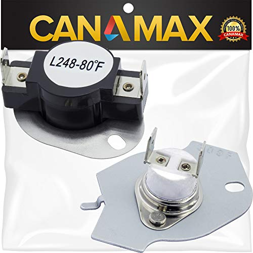 (279769 Dryer Thermal Cut-Off Kit Premium Replacement by Canamax - Compatible with Whirlpool and Kenmore Dryers - Replaces 3977394, 80001, 3389946)