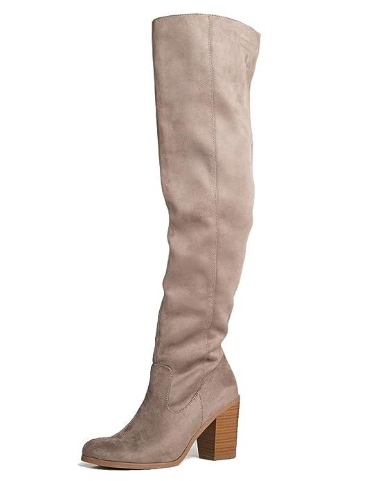 Avalon Over The Knee High Heel Boot, Smoke Taupe IMSU, 10 B(M) US