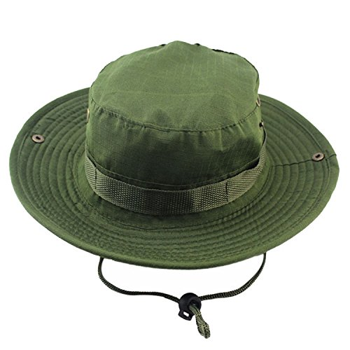 Imported Jungle Hat - Unisex Bucket Hats Jungle Military Army Green Boonie Sun Hat Barbecue Cotton Mountain Climbing Summer Sun Hat for Hiki,OneSize,AsPicture
