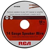 Rca AH1450SR 14-Gauge Speaker Wire (50 feet) Size: 14 gauge - 50 ft spool CustomerPackageType: Standard Packaging, Model: AH1450SR, Gadget & Electronics Store