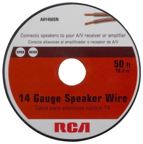 Rca AH1450SR 14-Gauge Speaker Wire (50 feet) Size: 14 gauge - 50 ft spool CustomerPackageType: Standard Packaging, Model: AH1450SR, Gadget & Electronics Store by Electronics World