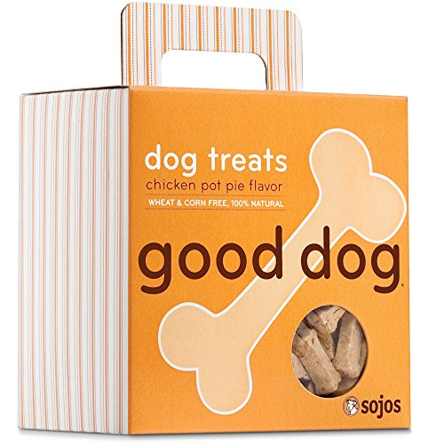 Sojos Good Dog Crunchy Natural Dog Treats, Chicken Pot Pie, 8-Ounce Box