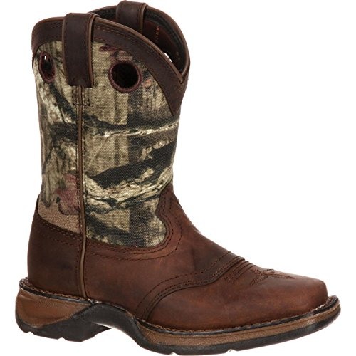 Durango Unisex Lil Little Kid Camo Saddle Western Boot Mid Calf, Distressed Brown, 11 M US (Kids Distressed Leather)