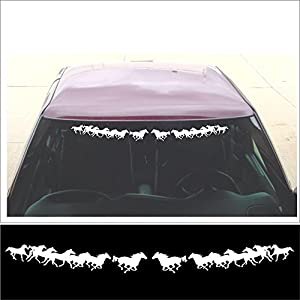 Amazoncom Windshield Decal Running Horses Group For Car - Car windshield decals
