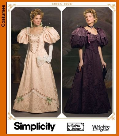 Amazon.com: Simplicity 4078 Sewing Pattern Makes Misses Victorian ...