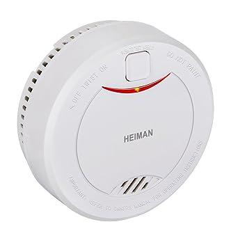 Detector de humo fotoeléctrico (HM-626PHS), Ninonly 10 años batería de litio Alarma de incendios CE/RoHS certificado con modo silencioso/prueba