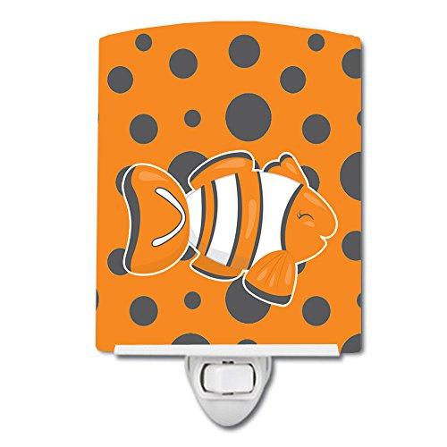 Caroline's Treasures Ceramic Night Light, Clown Fish, Orange, 6