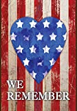 Toland Home Garden  We Remember Our Heroes 12.5 x 18-Inch Decorative USA-Produced Double-Sided Garden Flag