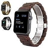 Watch Band, METFIT Men Women Natural Wood Wrist Strap Belt Watch For Apple Watch Series 2 / 1 42mm 2017