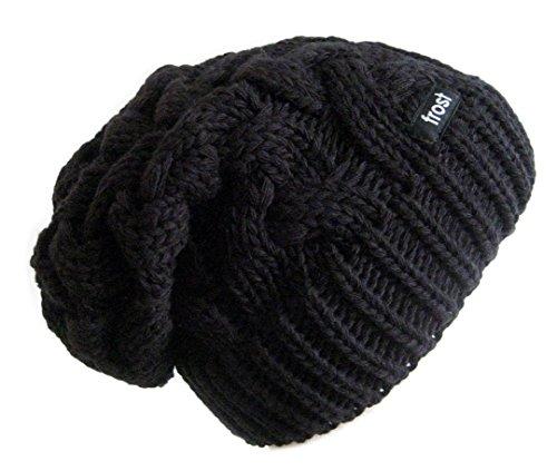 Frost Hats Winter Hat for Women BLACK Slouchy Beanie Cable Hat Knitted Winter  Hat Frost Hats One Size Black - Buy Online in Oman.  0a6fc2c3ebb