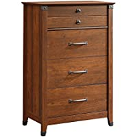 Sauder Carson Forge Chest In Washington Cherry with Four Drawers