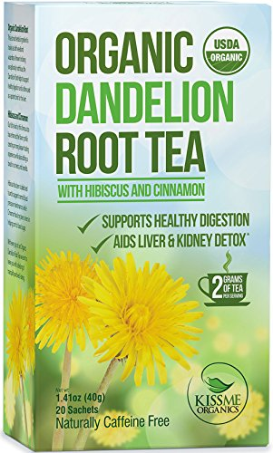 Dandelion Root Tea - Raw Organic Vitamin Rich Digestive - 1 Pack (20 Bags 2 Grams Each) - Detox Tea - Ideal to Help Improve Digestion and Strengthen Immune System - Anti-inflammatory Properties and Antioxidants