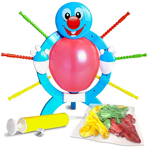 Gamie Popping Balloon Game for Kids | Includes Frame, 24 Balloons, 1 Pump, Dice, 9 Sticks, and Instruction Guide | Gift Idea/Fun Birthday Party Activity | Games for Parties, Sleepovers & More -